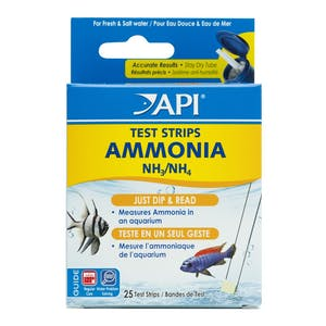 API Ammonia Test Strips - 25 tests