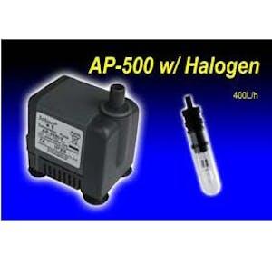JEBAO AP-500 mini pump w/ halogen