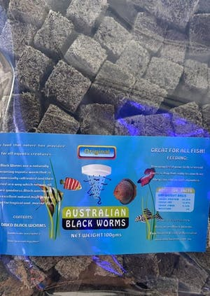 AUSTRALIAN BLACKWORMS DRIED CUBE 25GRAMS