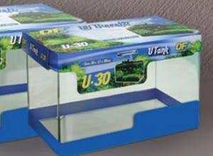 Ocean Free Glass Curved Tank 30cm