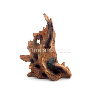 [Acquanova] Tree Stump Hide-Out Aquarium Ornament (15x8x19cm)
