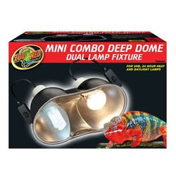 Zoo Med Mini Combo Deep Dome Dual Lamp Fixture